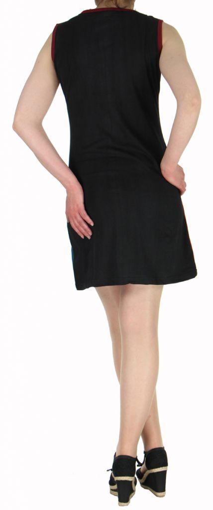 Robe d'été courte mode ethnique  Rouge/Noire/Bleue  Banita 3 272904