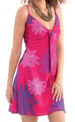 Robe d'été courte Rose Ethnique et Originale Chantal 281281