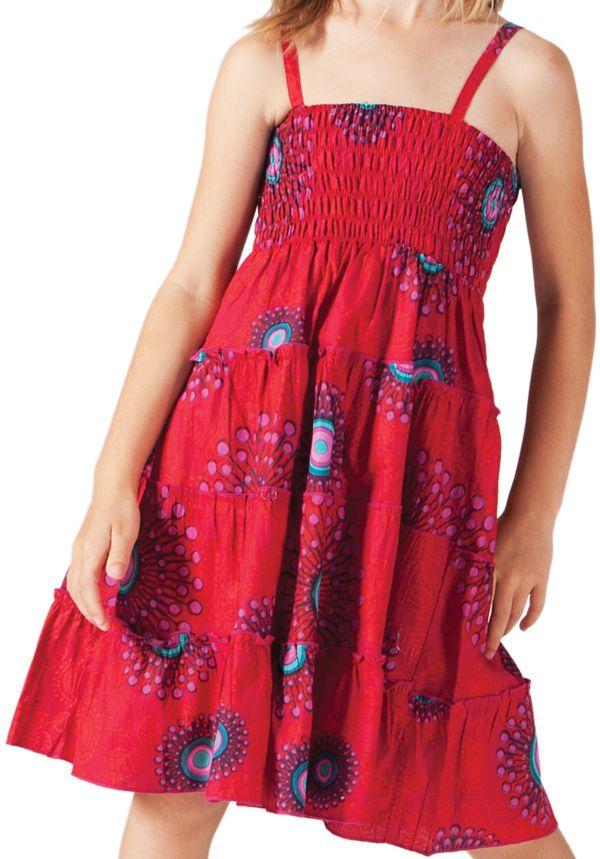 Robe d'été courte Rouge Originale et Colorée Pétunia 280602