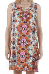 Robe d'été détente imprimée ethnique et colorée Cassandra 310421
