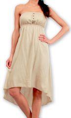 Robe d'été Elegante à bustier Originale et Chic Donna Beige 277010