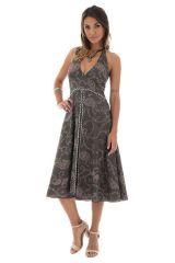 robe d'été élégante avec joli col pigeonnant et imprimés originaux Lenka 289869