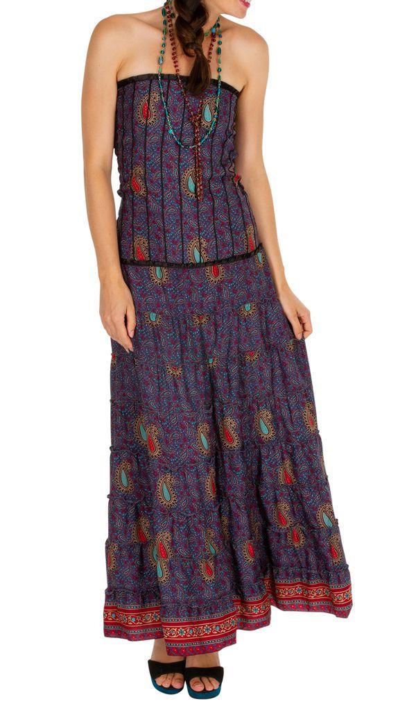 Robe d'été ethnique et glamour idéale pour une sortie Sophie 310700