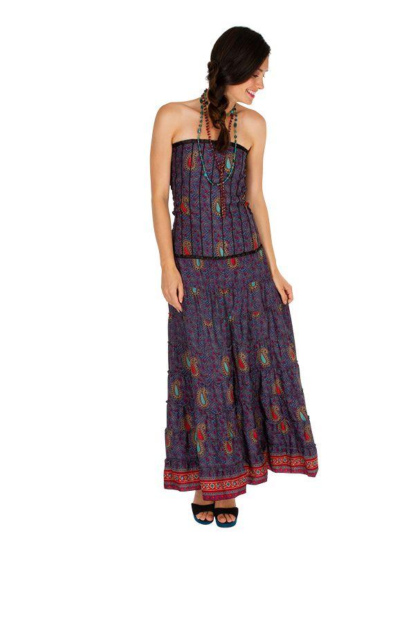 Robe d'été ethnique et glamour idéale pour une sortie Sophie 310701
