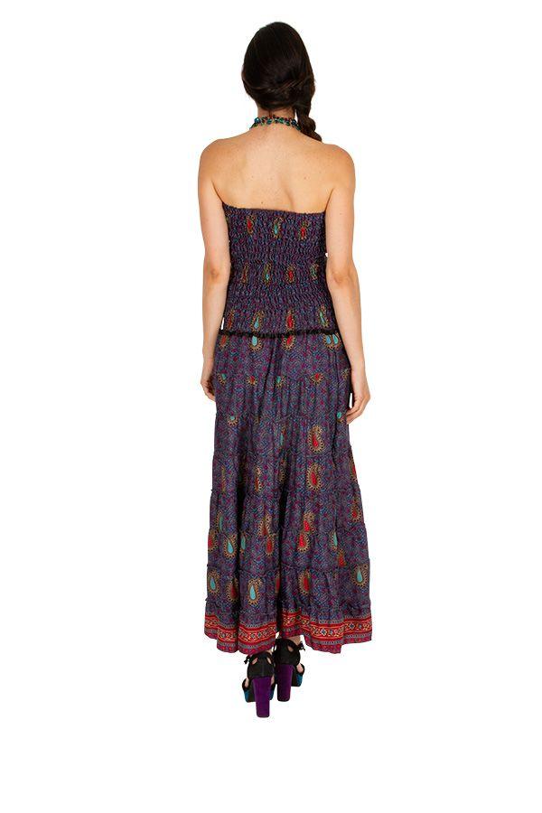 Robe d'été ethnique et glamour idéale pour une sortie Sophie 310702