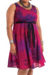 Robe d'été Ethnique et Idéale Cérémonie Grande Taille Suzette Rose 284337