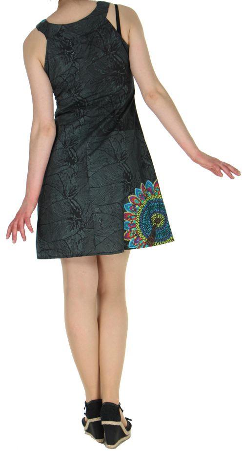 Robe d'été ethnique idéale cérémonie  Noire  Alisha 272575