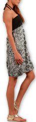 Robe d'été forme boule Ethnique et Originale Glorria Noire 277061