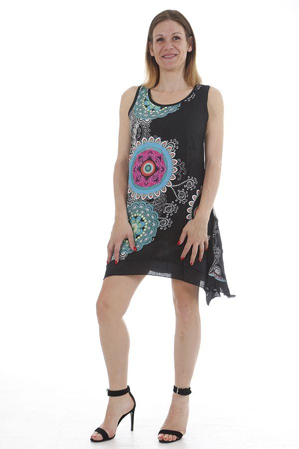 Robe d'été idéale pour détente originale et ethnique Jade 311722