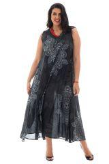 Robe d'été légère en voile de coton avec motifs mandalas Autumn 290228