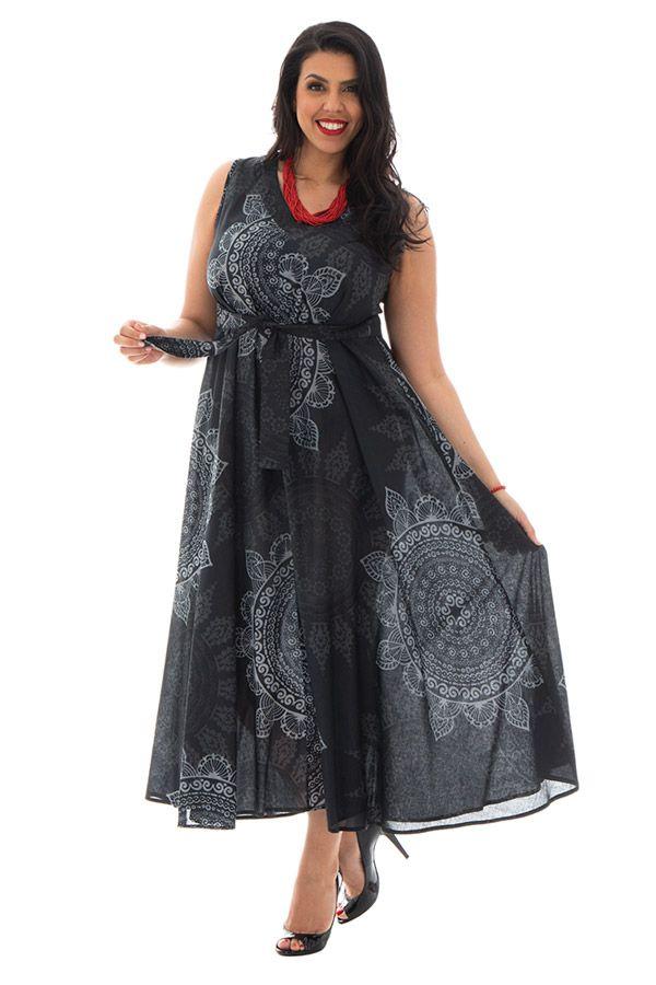 Robe d'été légère en voile de coton avec motifs mandalas Autumn 290229