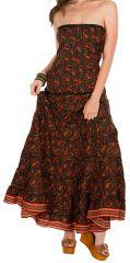 Robe d'été longue bustier style ethnique et féminine Crystal 298205