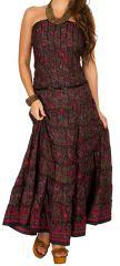 Robe d'été longue bustier style indien et ethnique estivale Julietta 298235