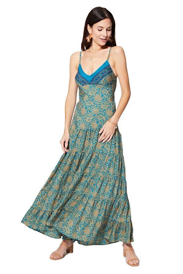 Robe d\'été longue habillée originale et colorée Louisa