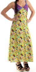 Robe d'été longue Originale et Colorée Tavira Jaune 280349
