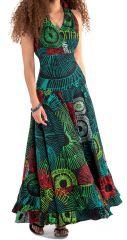 Robe d'été longue Verte Originale idéale Cérémonie Kasa 280732