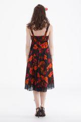 Robe d'été mi-longue Chic Noire et Originale Brigida 281652