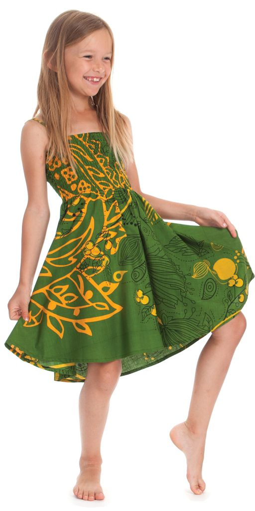 Robe d'été Narcisse 2en1 transformable en Jupe Verte 280222