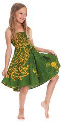 Robe d'été Narcisse 2en1 transformable en Jupe Verte 280222