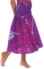 Robe d'été Narcisse Violette 2en1 transformable en Jupe 280221