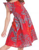 Robe d'été Nash Rouge et Bleue pour Enfant Ethnique et Colorée 279915