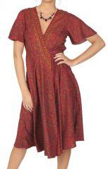 Robe d\'été originale à pans croisés pour femme Ludivine