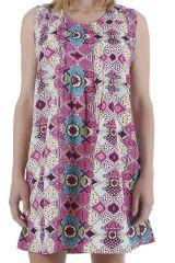 Robe d'été parfaite pour la détente colorée et imprimée Yuma 310436