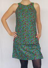 Robe d'été pas cher Originale à petit point multicolore sans manches Aly 302485