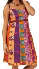 Robe d'été Pas Chère à fines bretelles Imprimée et Originale Bhiubhel 285917