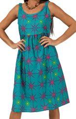 Robe d'été Pas ChèreBleu Imprimée et Colorée Kalisteal 285903