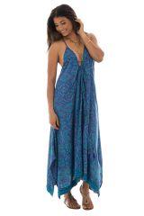 robe d'été pétillante avec joli col plongeant et motifs ethniques Idril 289784