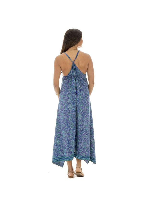 robe d'été pétillante avec joli col plongeant et motifs ethniques Idril 289785