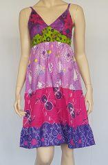 Robe d'été petit prix style bohème avec imprimés Sakina 302463