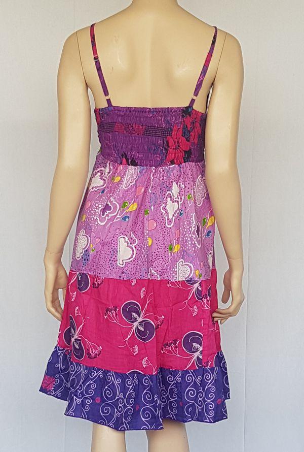Robe d'été petit prix style bohème avec imprimés Sakina 302464