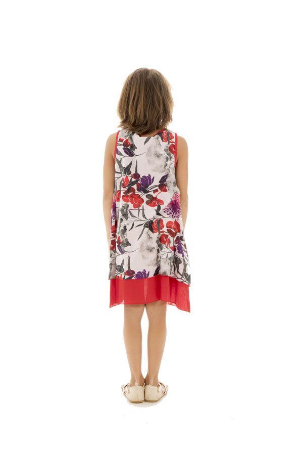 Robe d'été pour enfant à doublure en voile de coton Lara 294551