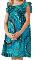 Robe d'été pour Enfant Colorée et Ethnique Nash Turquoise 279861
