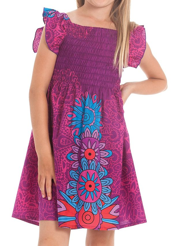 Robe d'été pour Enfant Ethnique et Colorée Nash Fuchsia 279898