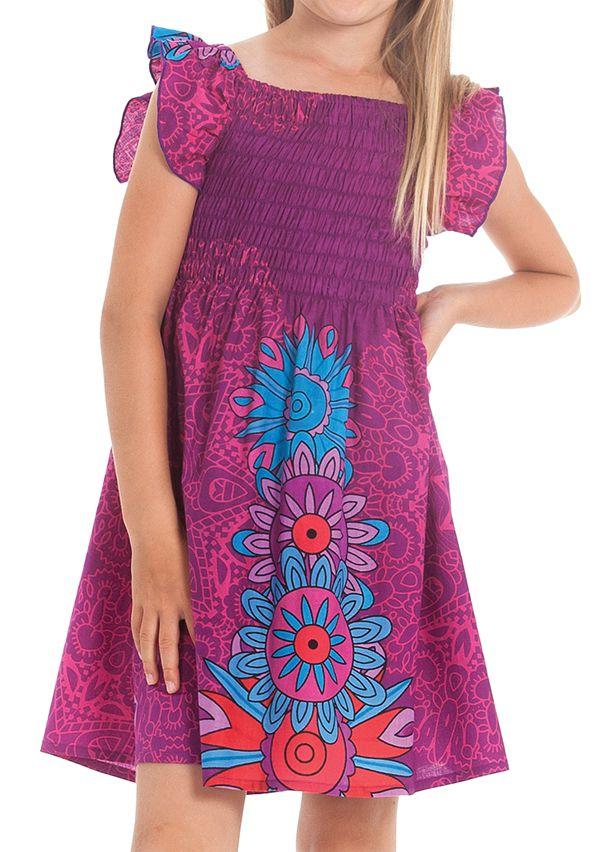 Robe d'été pour Enfant Ethnique et Colorée Nash Fuschia 279898