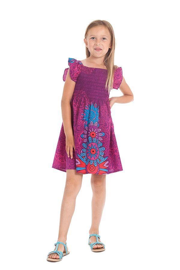 Robe d'été pour Enfant Ethnique et Colorée Nash Fuschia 279899