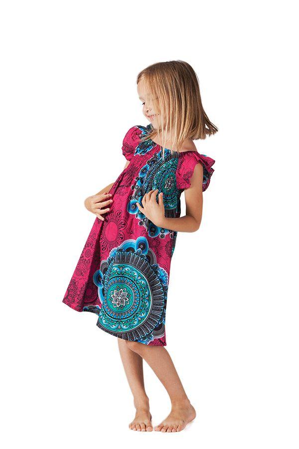 Robe d'été pour Enfant Ethnique et Colorée Nash Rose 279870