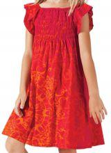 Robe d'été pour Enfant Ethnique et Colorée Nash Rouge et Orange 279871