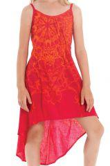 Robe d'été pour enfant Originale idéale Cérémonie Rika Rouge 280578