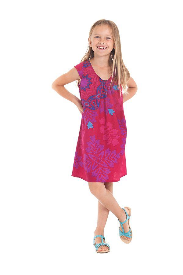 Robe d'été pour enfant Prissy Originale et Colorée Fuchsia 279897