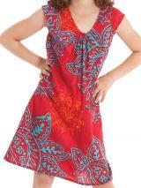 Robe d'été pour enfant Prissy Originale et Colorée Rouge 279881