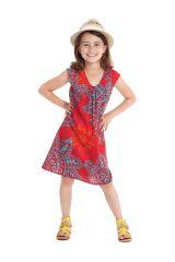 Robe d'été pour enfant Prissy Originale et Colorée Rouge 279889
