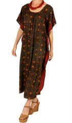 Robe d'été pour femme ample et ethnique Ghinda chocolat 314491