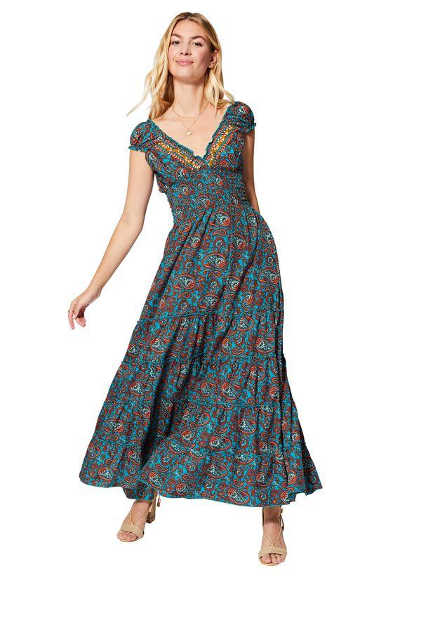 Robe d\'été pour femme fluide et longue ethnique Petra