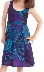 Robe d'été pour Fille Bleue Colorée et Pas chère Nala 280140