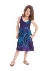 Robe d'été pour Fille Bleue Colorée et Pas chère Nala 280141
