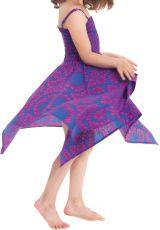 Robe d'été pour Fille Indigo et Rose Originale et Asymétrique Pégase 280470